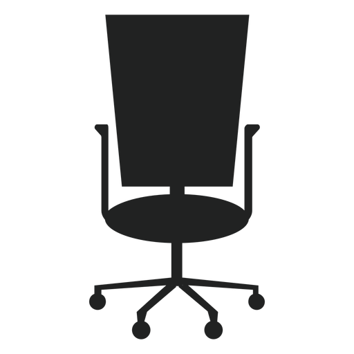 Square back office chair icon Transparent PNG