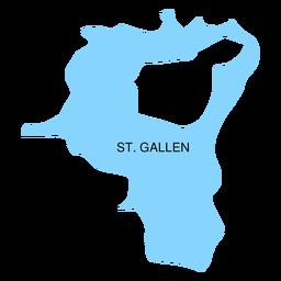 Mapa del cantón de san gallen