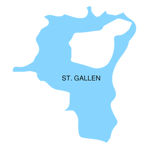 St gallen canton map Transparent PNG SVG vector