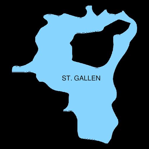 St gallen canton map Transparent PNG