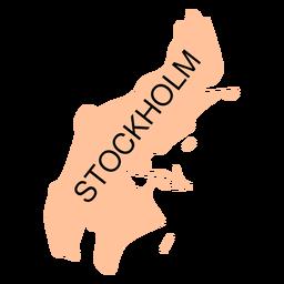 Mapa do condado de Estocolmo
