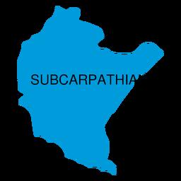 Mapa de voivodato subcarpático