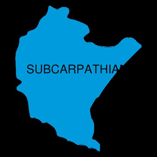 Mapa de voivodato subcarpático Transparent PNG