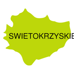 Mapa de voivodato de Swietokrzyskie