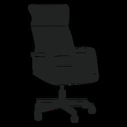 Ícone plano de cadeira de escritório giratória