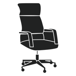 Swivel office chair flat icon