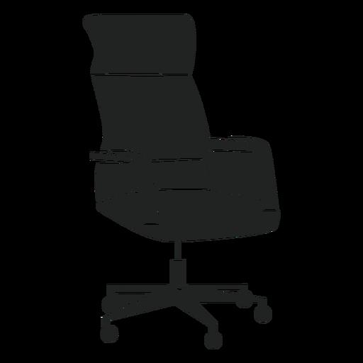 Silla de oficina giratoria plana icono Transparent PNG