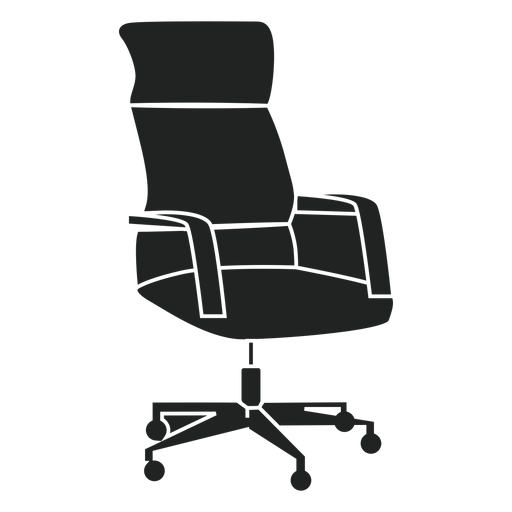 Swivel office chair flat icon Transparent PNG