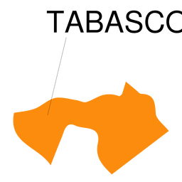 Mapa del estado de tabasco