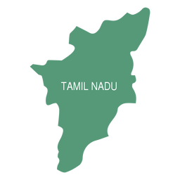 Mapa do estado de Tamil Nadu