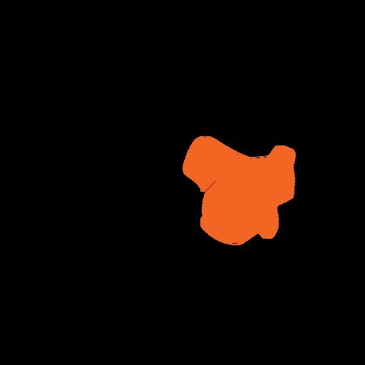 Tasmania state map Transparent PNG