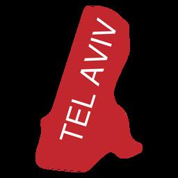 Mapa del distrito de tel aviv