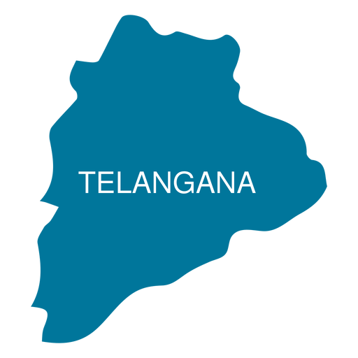 Telangana state map - Transparent PNG & SVG vector