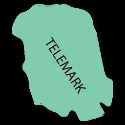 Mapa de condado de Telemark