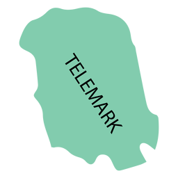 Telemark county map