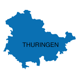 Mapa del estado de Turingia