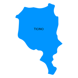 Ticino canton map