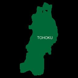 Mapa de la región de Tohoku