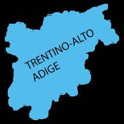 Trentino mapa do sul do Tirol