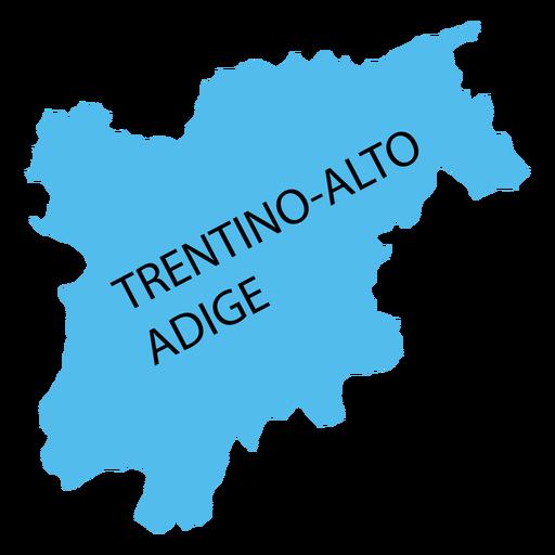 Mapa de la región de Tirol del sur Trentino Transparent PNG