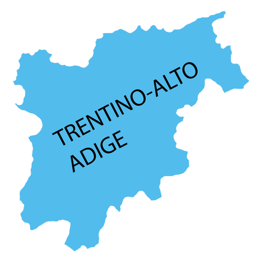 Trentino south tyrol region map Transparent PNG