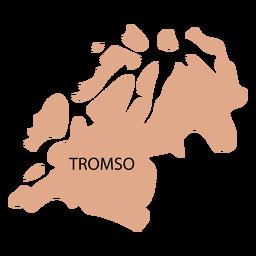Mapa de condado de Troms