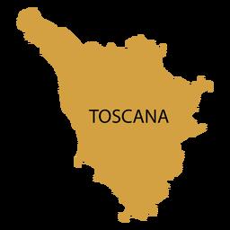 Mapa de la region de toscana
