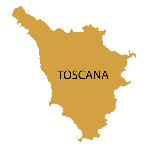 Tuscany region map Transparent PNG