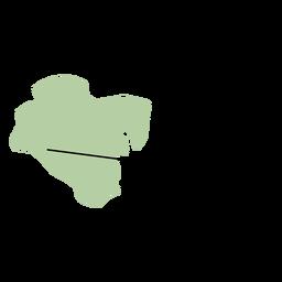 Mapa de la ciudad metropolitana de Ulsan