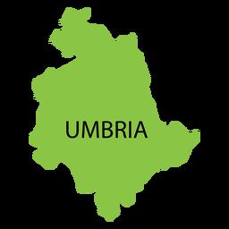 Mapa da região da Úmbria
