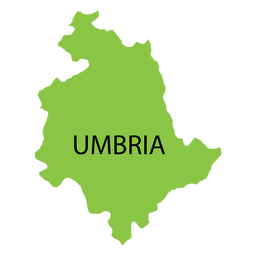 Umbria region map