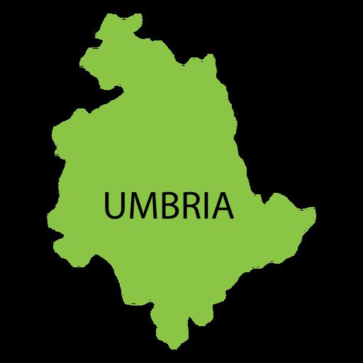 Umbria region map Transparent PNG