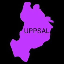 Mapa del condado de Uppsala