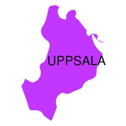 Uppsala county map