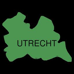 Mapa da província de Utrecht