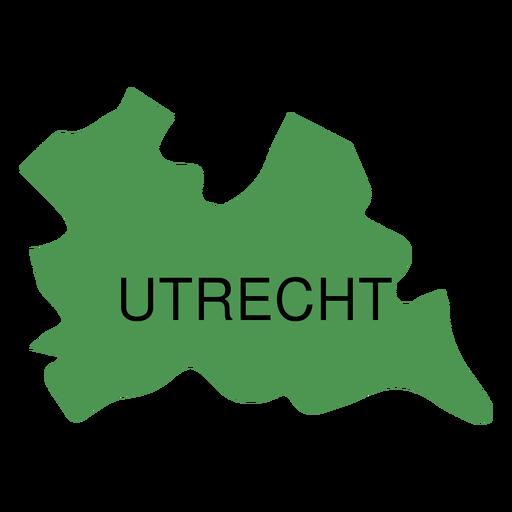 Utrecht province map Transparent PNG