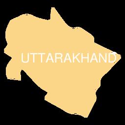 Uttarakhand state map