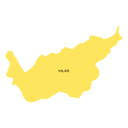 Valais canton map