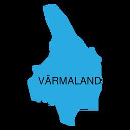 Mapa de condado de Varmland