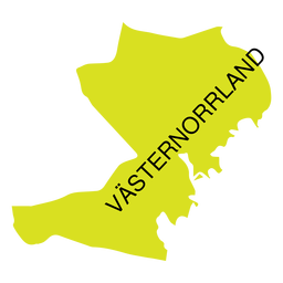 Vasternorrland county map