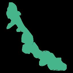 Mapa do estado de Veracruz