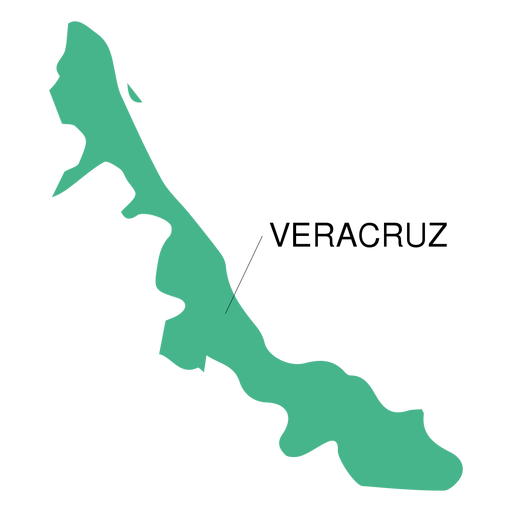 Veracruz state map Transparent PNG