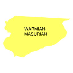 Mapa de voivodato de Warmian Masurian