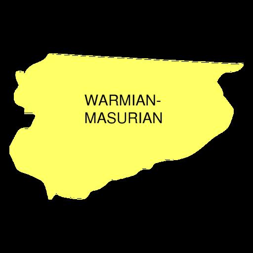 Mapa de voivodato de Warmian Masurian Transparent PNG