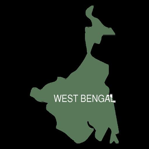 Mapa del estado de bengala occidental Transparent PNG