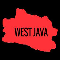 Mapa da província de Java Ocidental
