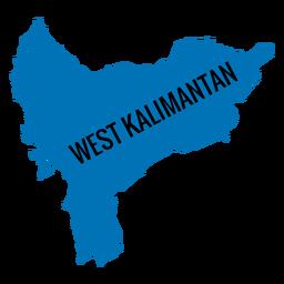 Mapa da província de kalimantan ocidental