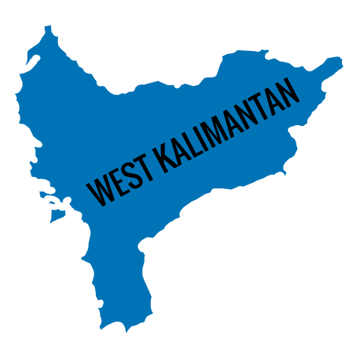 Mapa de la provincia de Kalimantan Occidental Transparent PNG