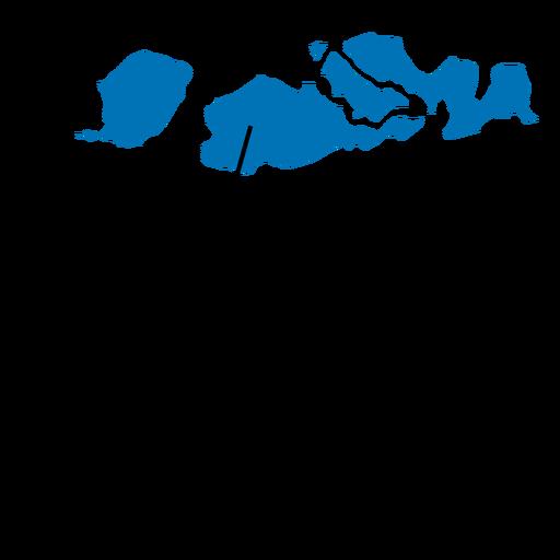 Mapa de la provincia de Nusa Tenggara Occidental Transparent PNG