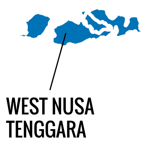 West nusa tenggara province map Transparent PNG